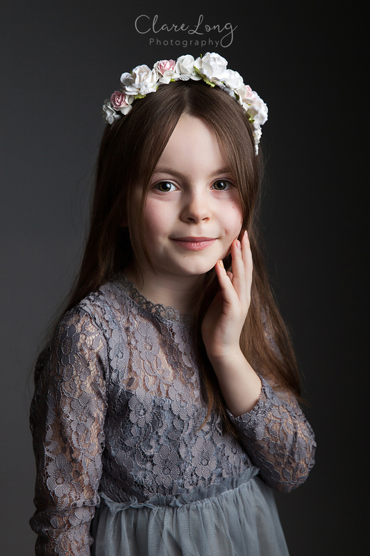Clare Long Photography Kent Childrens photographer fine art floral crown