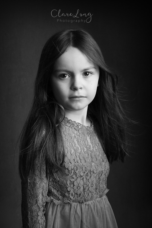 Clare Long Photography Kent Childrens photographer fine art black white lace