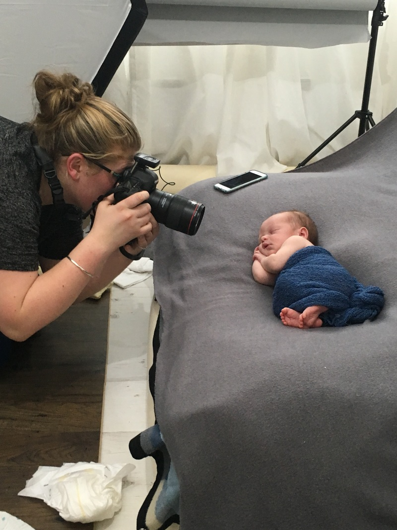 Behind the scenes Picture newborn photography kent