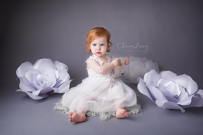 Clare Long Photography Kent photographer handmade set personalised shoot paper flowers roses Portrait