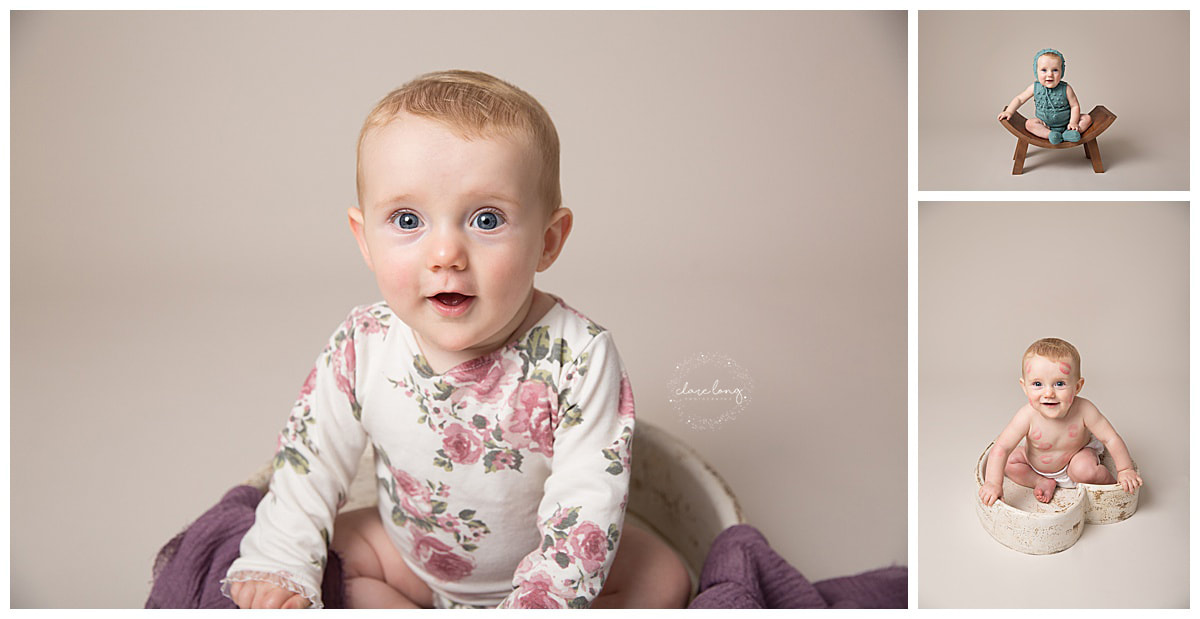 Baby photos kent sitter session blue eyes