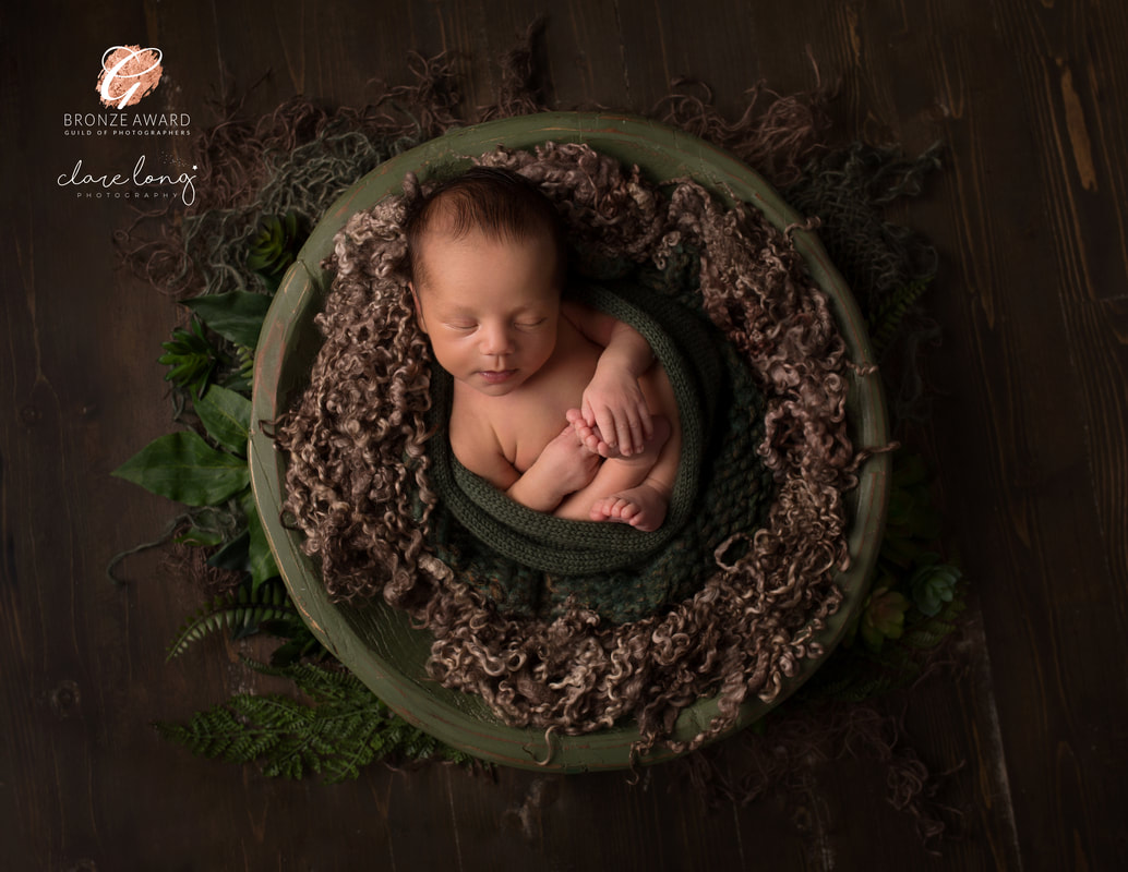 Newborn Photography kent Greens baby boy bowl